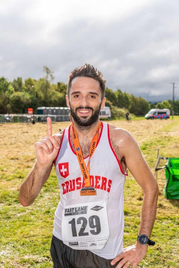 Italo Giancaterina came first Fastlane Half Marathon