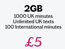 Want a SIM only deal for no more than £5 ? Check this out.