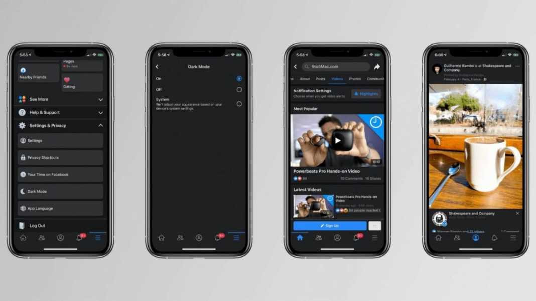 Facebook, after Android, the app for iOS will also have Dark Mode