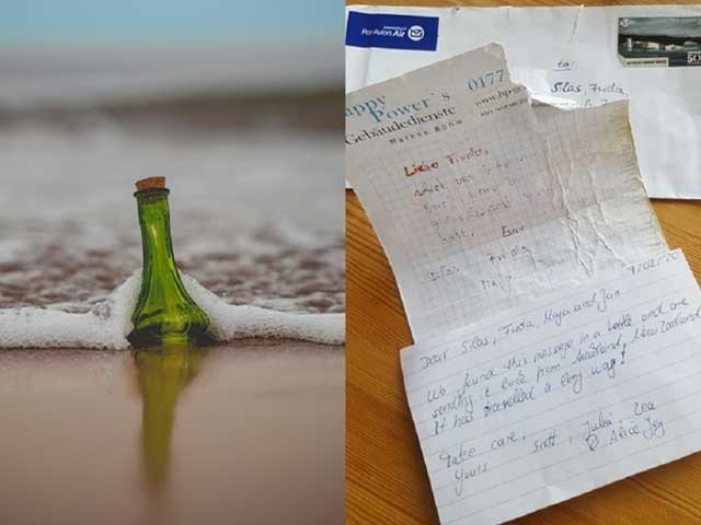 The message in the bottle flew from Florida to Carolina in two weeks, Photo: Twitter