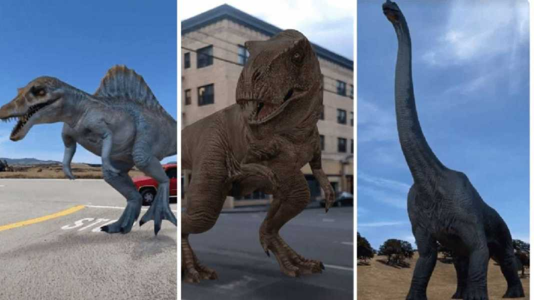 Google, dinosaurs come in augmented reality: here's how to see them