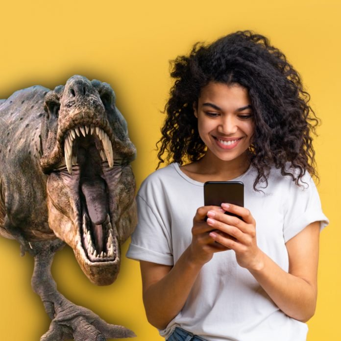 How to see 3D dinosaurs and augmented reality in your own home with your cell phone