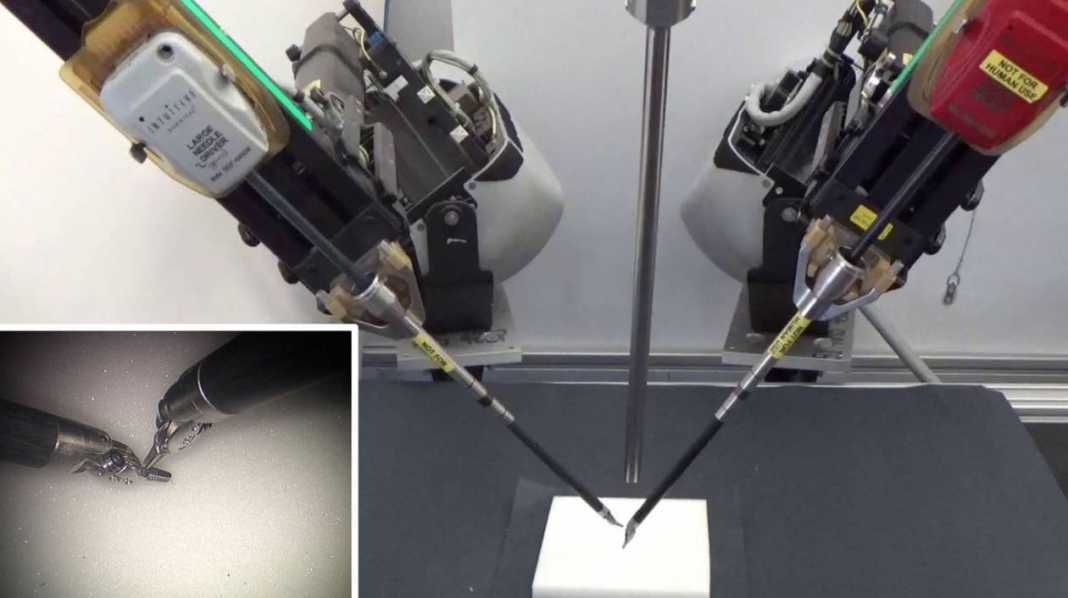 The robot that is learning to suture by watching videos of how surgeons do it