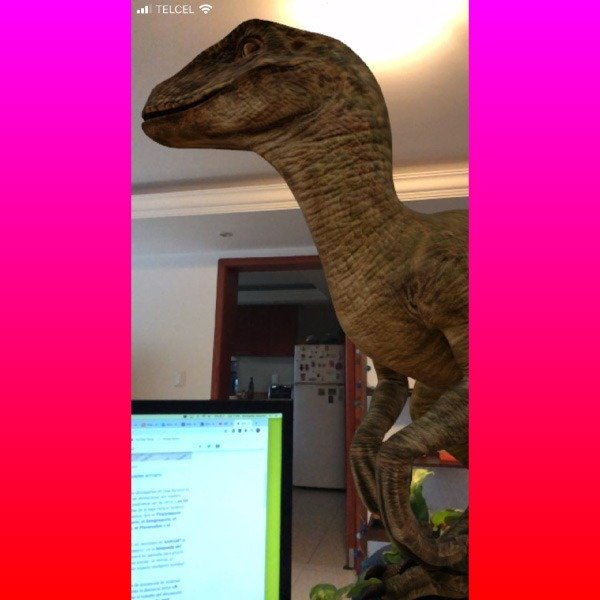 how to see the 3D dinosaurs and augmented reality on your cell phone