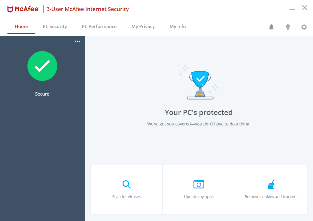McAfee Internet Security 22.1