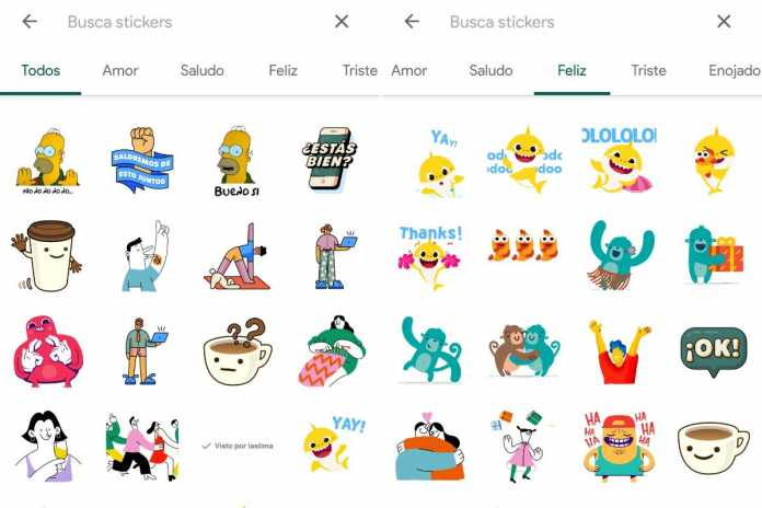 WhatsApp adds a sticker search engine and a new animated package in its beta for Android