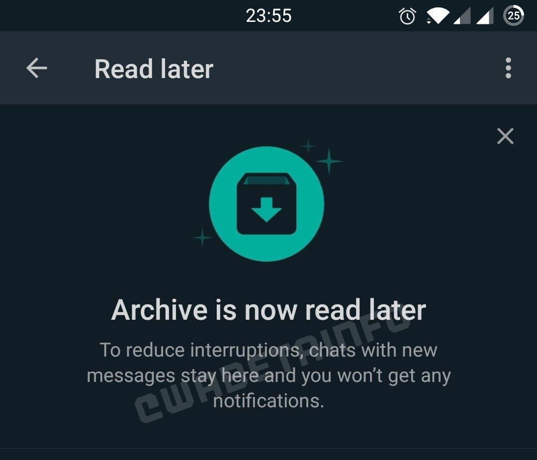 Read Later Whatsapp