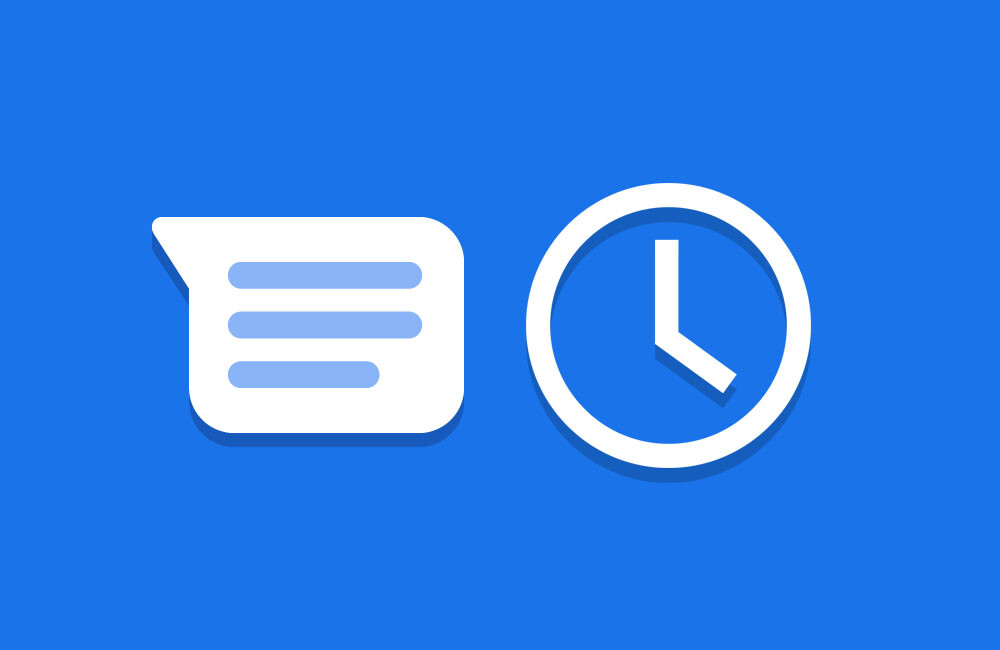 Google Messages: how to schedule a message to be sent