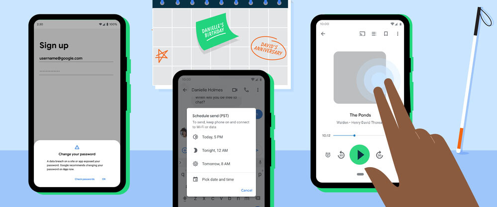 Dark theme in Google Maps, password verification, new TalkBack and other news coming to your Android