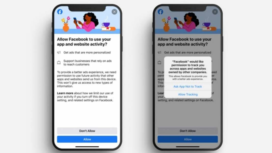 Facebook on iPhones and iPads running iOS 14 will show a new notification for data tracking