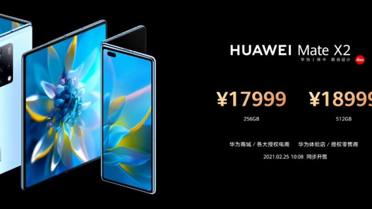 Huawei Mate X2 is official in China: new folding, Kirin 9000 chip and Leica camera