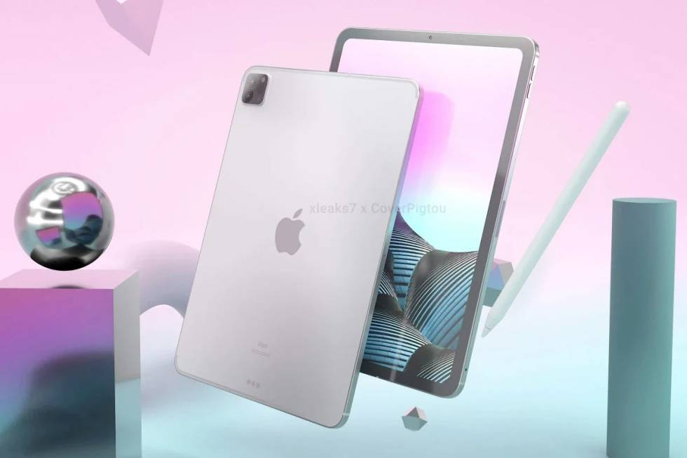 Render of the future iPad Pro 2021.