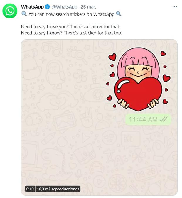 WhatsApp announcement on Twitter