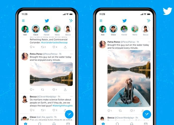 twitter will show the images without cropping and with better quality