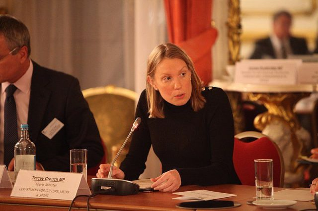 Tracey Crouch, British representative of the Ministry of Solitude.