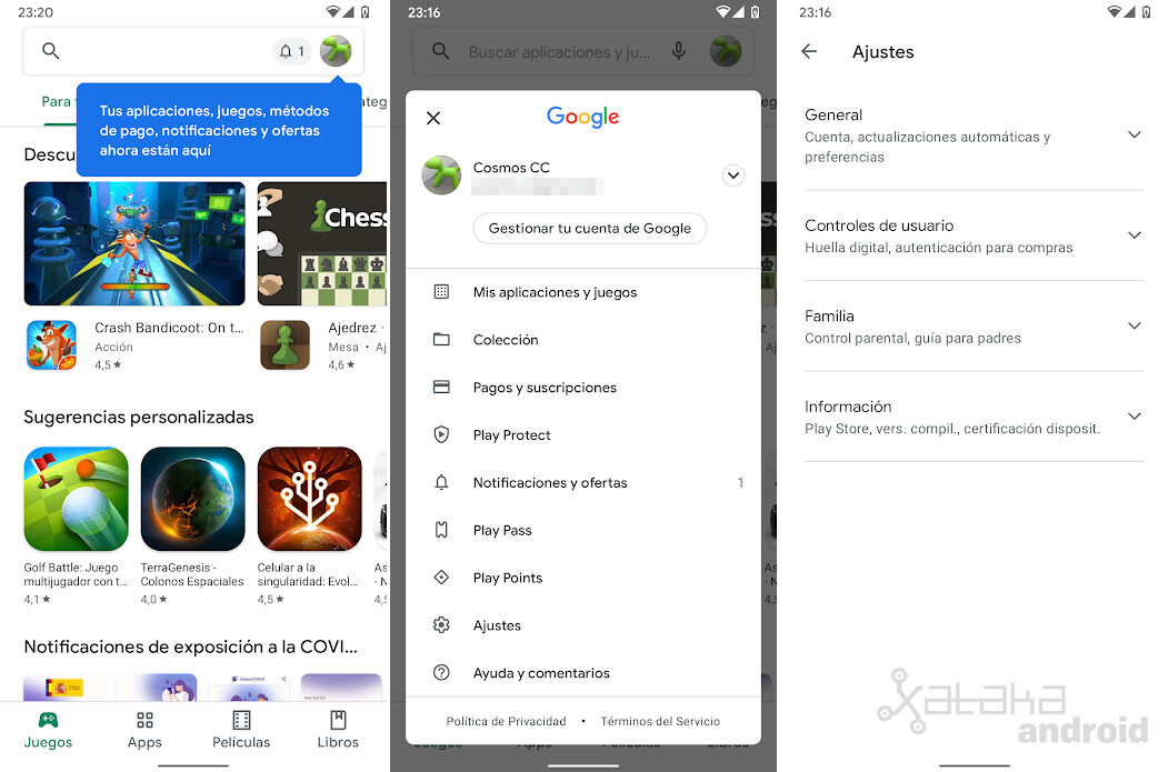 Google Play Store New Interface