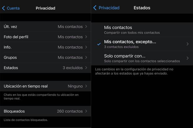 Learn all the steps to hide your WhatsApp statuses from specific people.  (Photo: MAG)