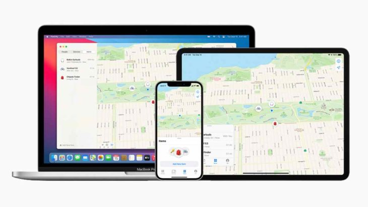 apple find my network now offers new third party finding experiences macbookpro ipadpro iphone12pro 040721 big 730x411.jpg
