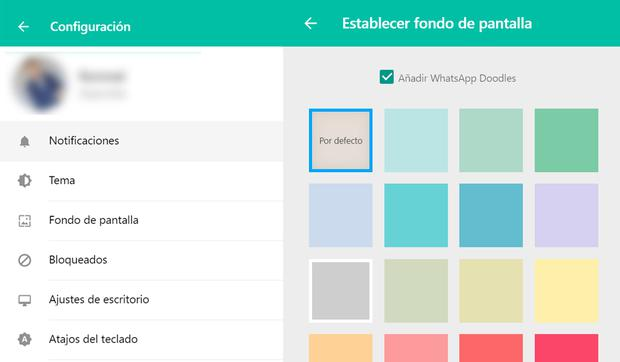 In this way you can choose the color you want WhatsApp Web to display.  (Photo: MAG)