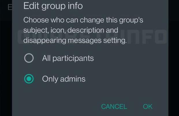 Changes in group chats for the benefit of privacy