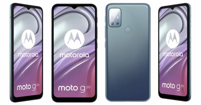The Moto G20 is almost completely filtered before its presentation