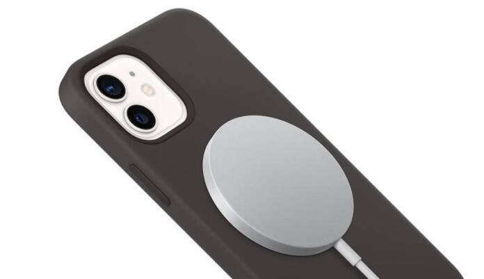 iPhone 12 with a MagSafe connector.