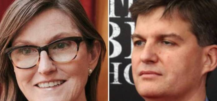 Catherine Wood and Michael Burry.