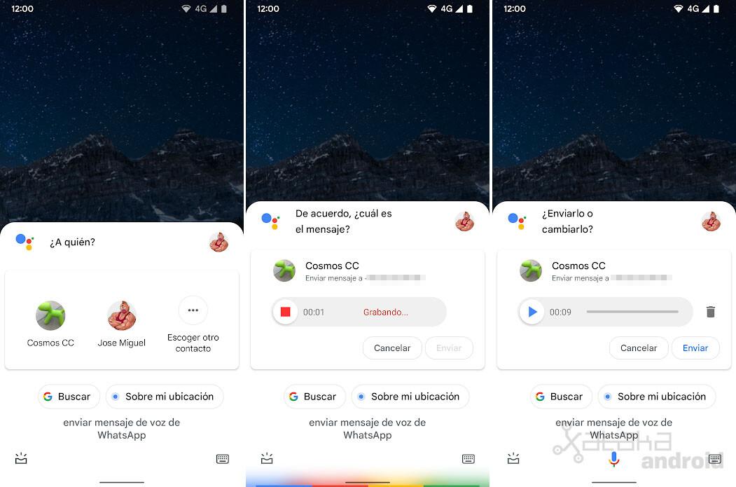 Whatsapp Voice Message Google Assistant