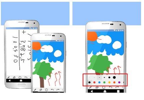 Handwriting pad, Android app for handwriting