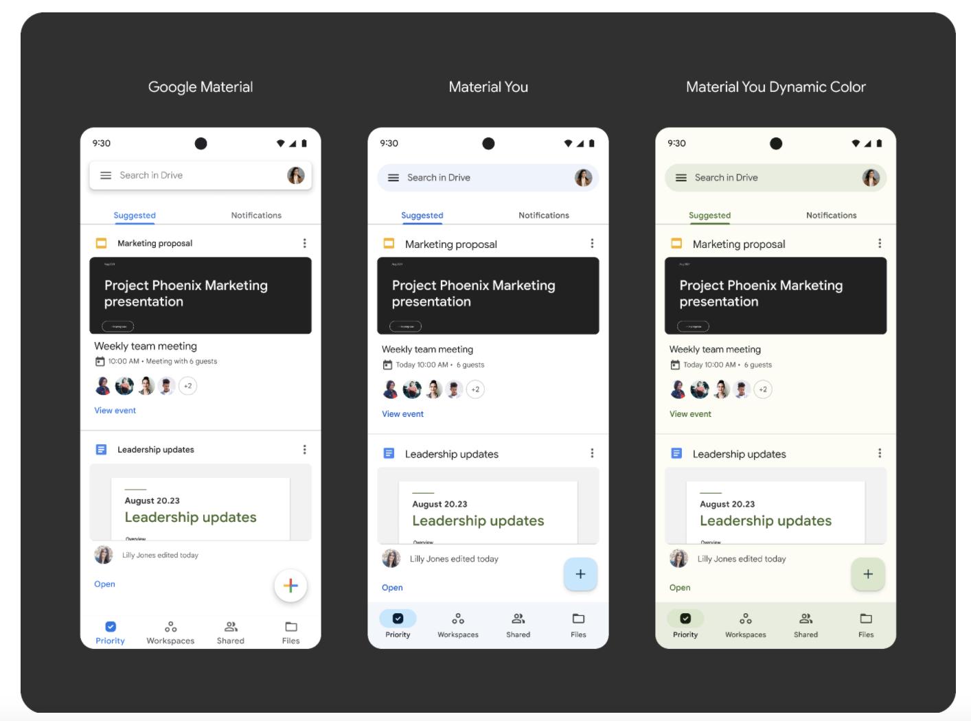Material You - Google Drive