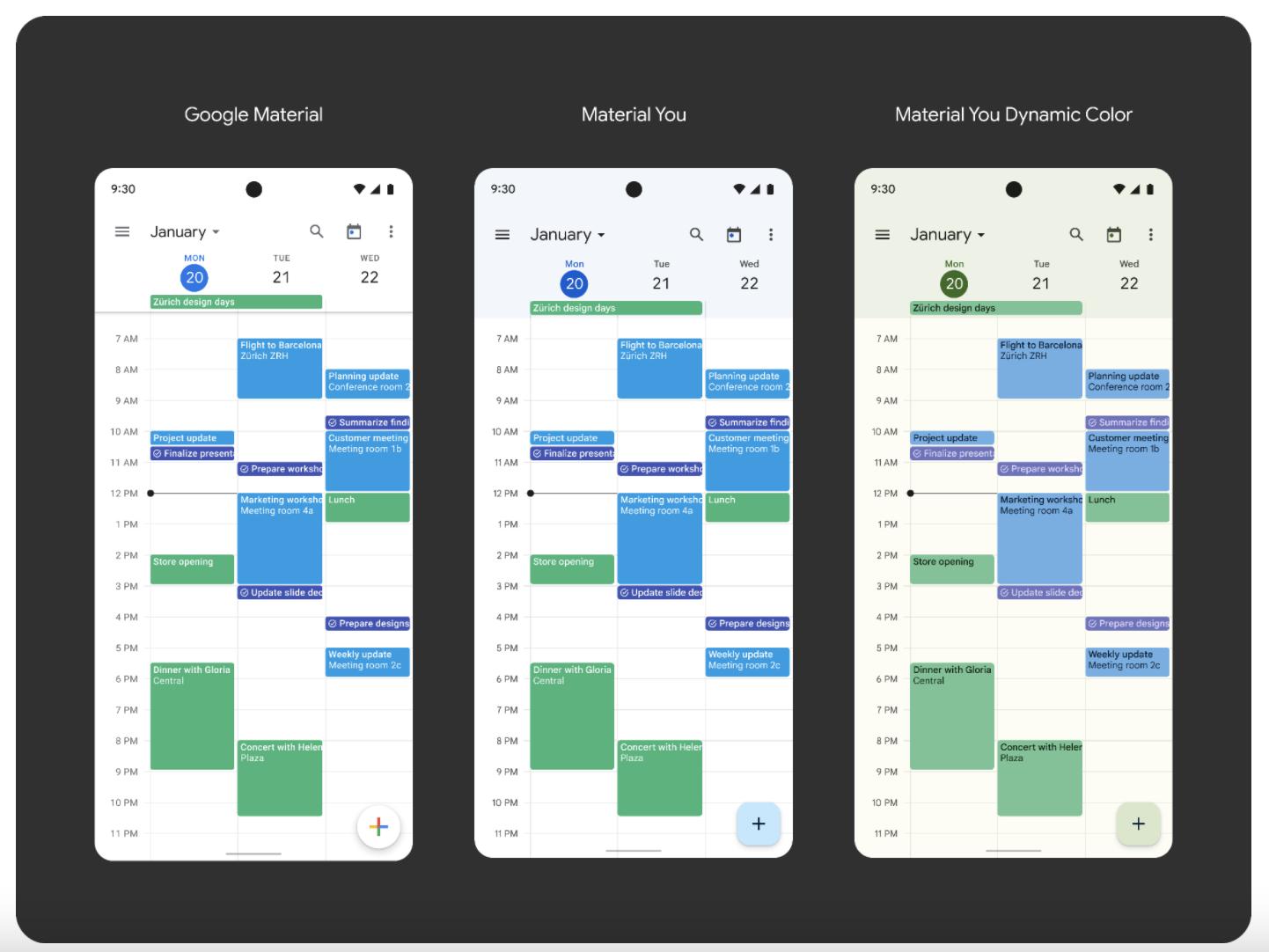 Material You - Google Calendar
