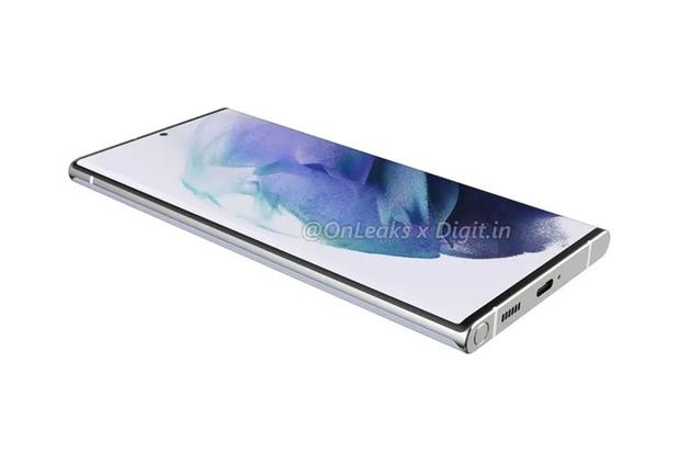 This is how Samsung's next cell phone could look, the Galaxy S22 Ultra.  (Photo: Onleaks)