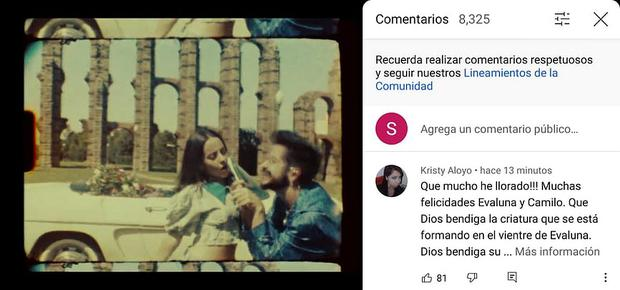 So you can see the video clip of 'Indigo' by Camilo and Evaluna Montaner along with the comments.  (Photo: Mag)