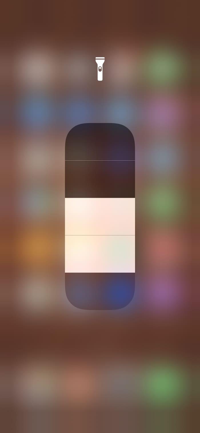 iOS flashlight bars